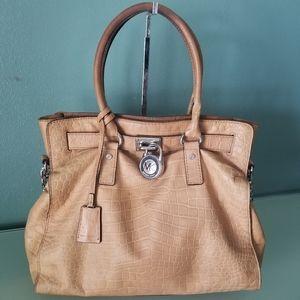 Michael Kors North/South Hamilton Croc Bag